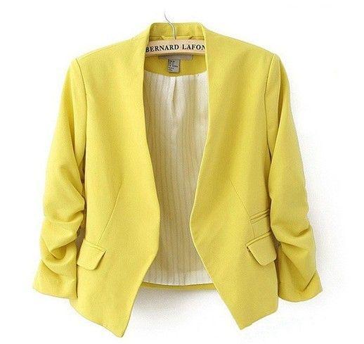 ALIOFERTAS BRASIL Blazer feminino com cores marcantes em e ... 36f355020fd85