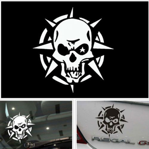 Storm skull logo car sticker window ghost rider graphic reflective vinyl decal