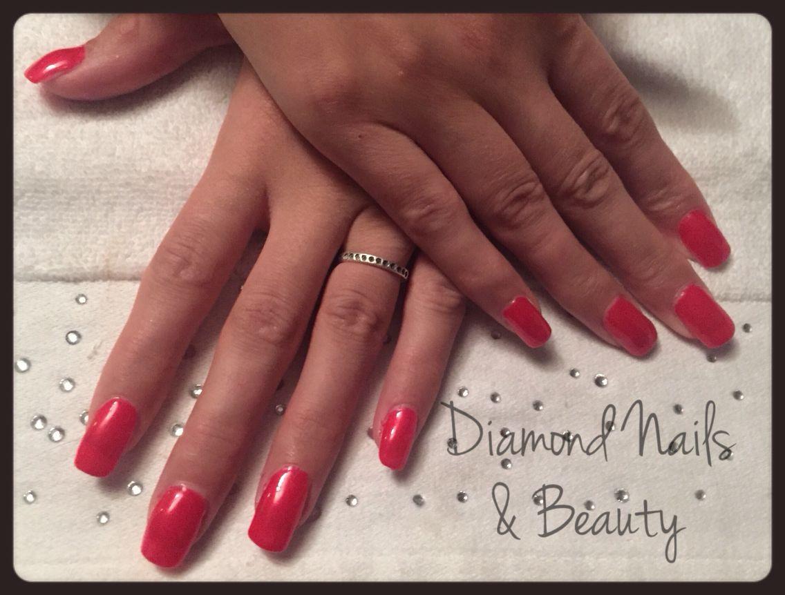 NSI acrylic nails with Ink London ilac gel polish www.facebook.com ...
