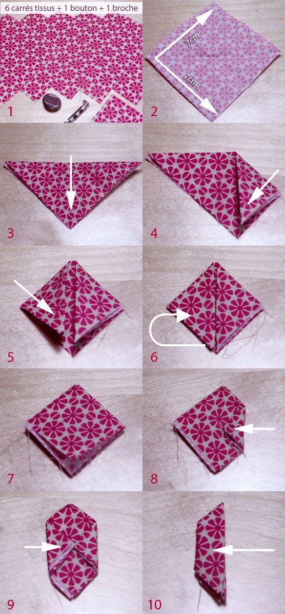 tuto kazanchi tutoriel broche fleur faire une broche. Black Bedroom Furniture Sets. Home Design Ideas