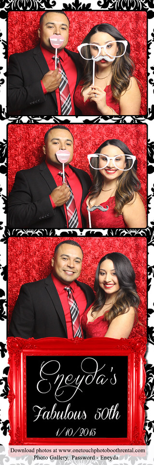 Eneyda's 50th Birthday Party - Colton - One Touch Photo Booth Rentals