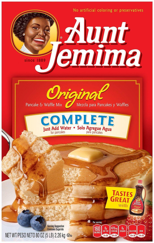 Aunt jemima pancake and waffle mix original complete 50