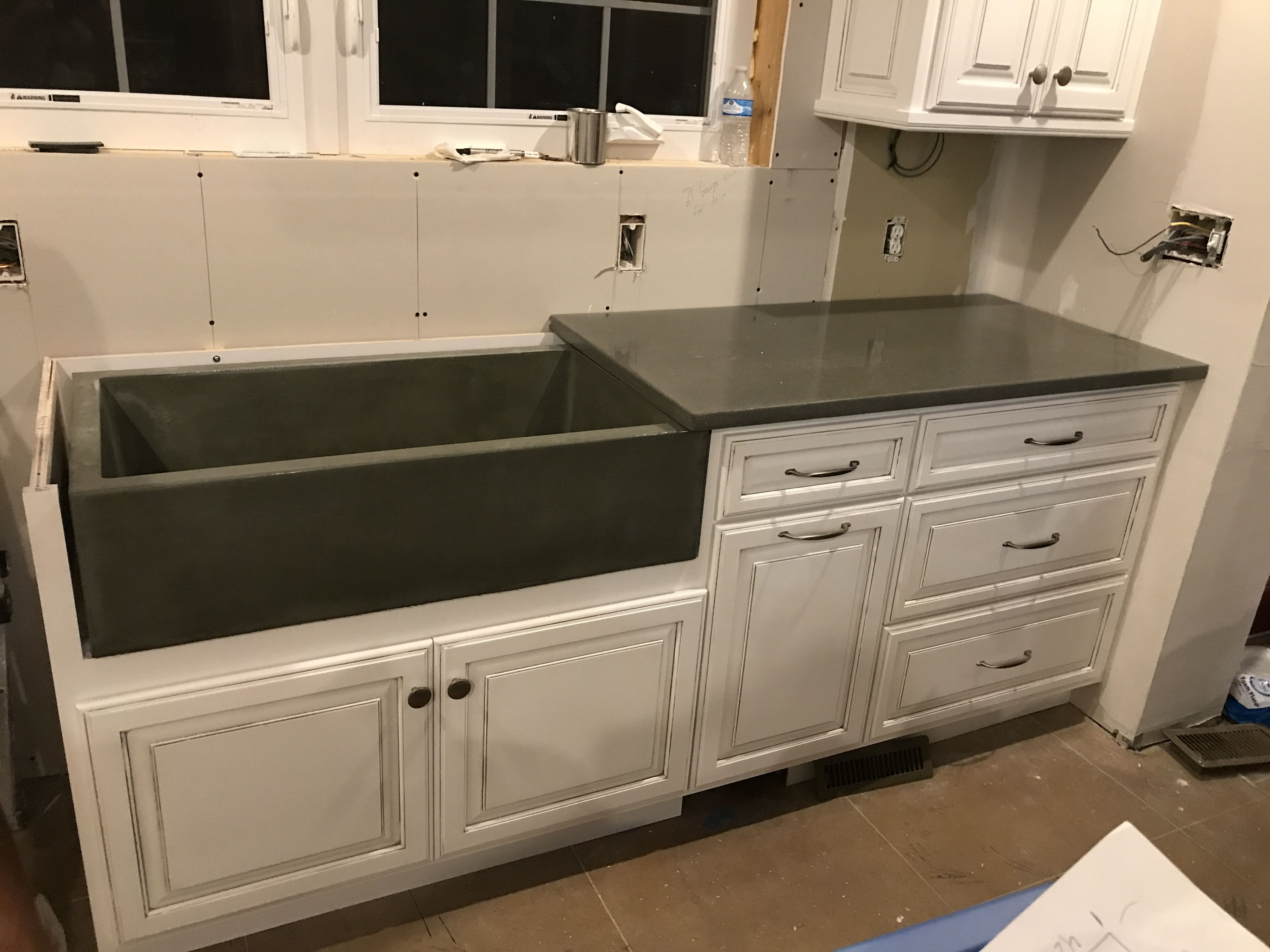 Pin By Benchmark Construction On G F R C Glass Fiber Reinforced Concrete Kitchen Cabinets Countertops Home Decor