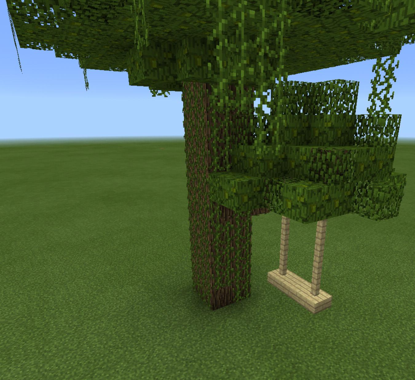Minecraft Tree House Swing Set | Minecraft tree, Minecraft ...
