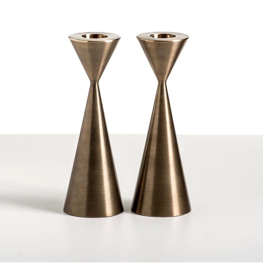 Taper Candlesticks - Brass | Fern & Roby