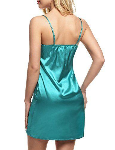 Ekouaer Nightwear Women's Sexy Chemise Nightgown Sleepshirt Sleepwear