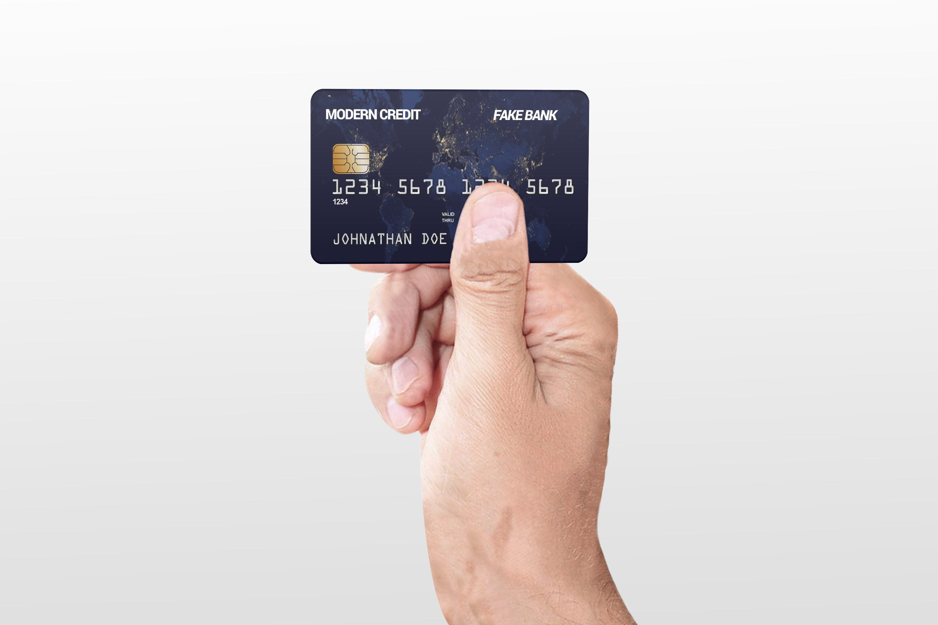 Credit Card In Hand Mock Up Ad Ad Features Clicks Design