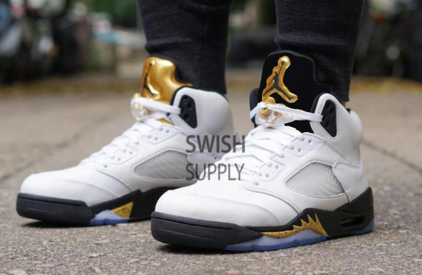 Jordan 5 White And Gold