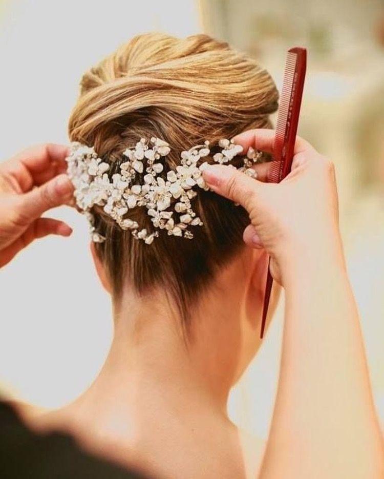 Pin De De Casamento En Penteado De Noiva Pinterest - Adornos-de-novia-para-el-cabello