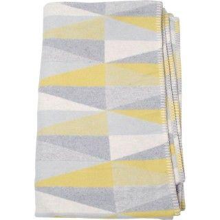 Fussenegger Decke Sylt Grau Gelb