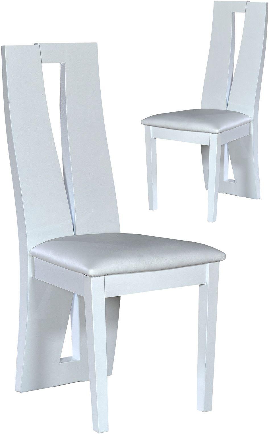 Salle A Manger Chaise Blanc Laque Comforium Meubles Appart