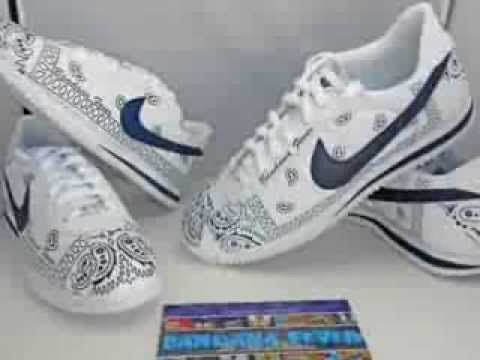 buy popular 4e2a8 f657b Custom Sneakers - Bandana Nike Cortez   Custom Shoes by Bandana Fever