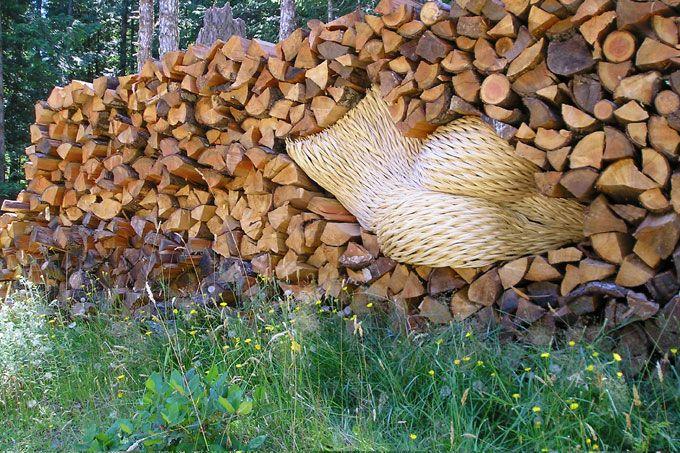 Holzaufbewahrung Außen dontswipe 17 sculpture holzlager aussen und selber