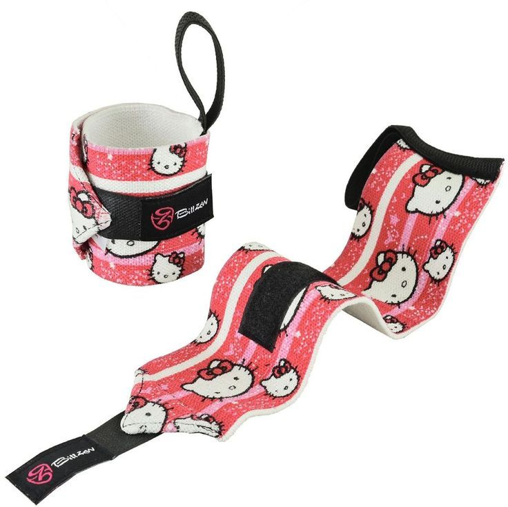 HELLO KITTY WEIGHTLIFTING WRIST FITNESS SUPPORT COTTON WRAPS BANDAGE STRAPS PINK...  #Bandage #Cotto...