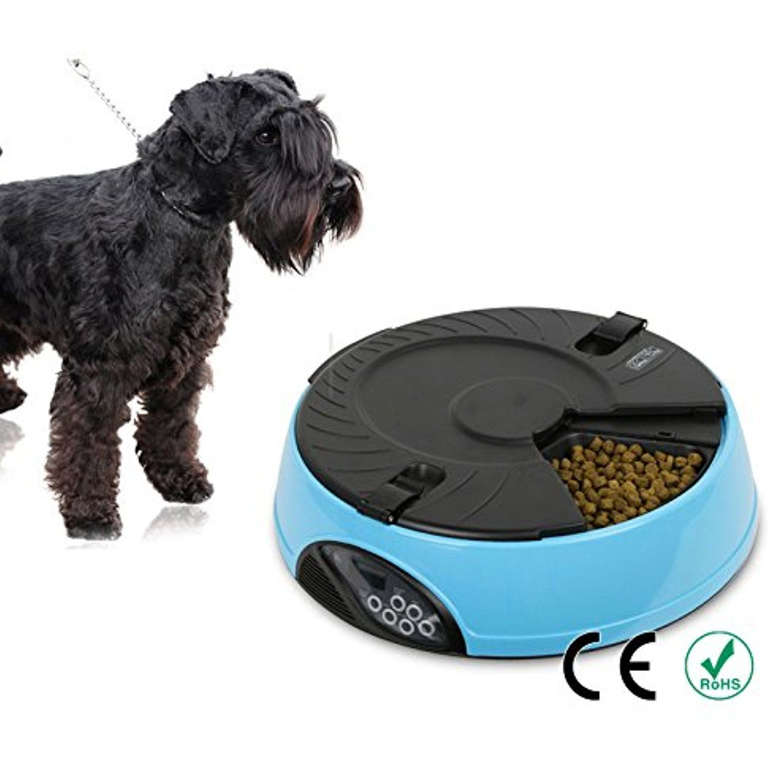 FastEngle Automatic Dog Feeder 6 Meals Programmable Timer