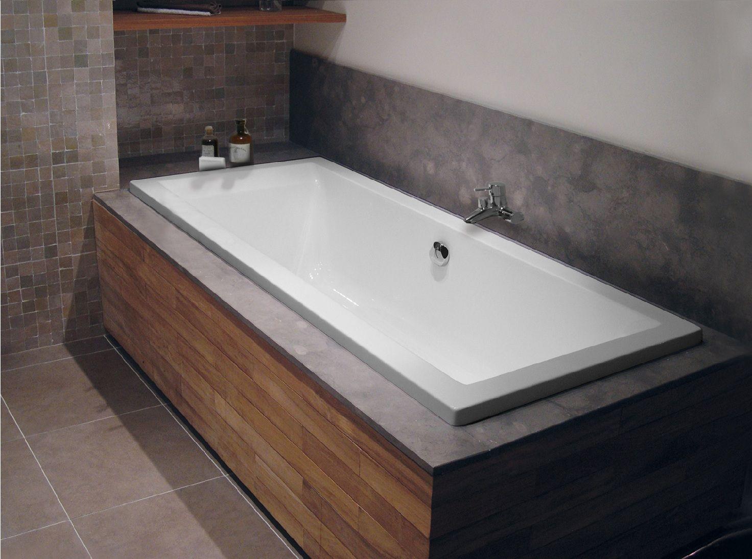 Houten ombouw bad google zoeken badkamer pinterest for Tv voor in badkamer
