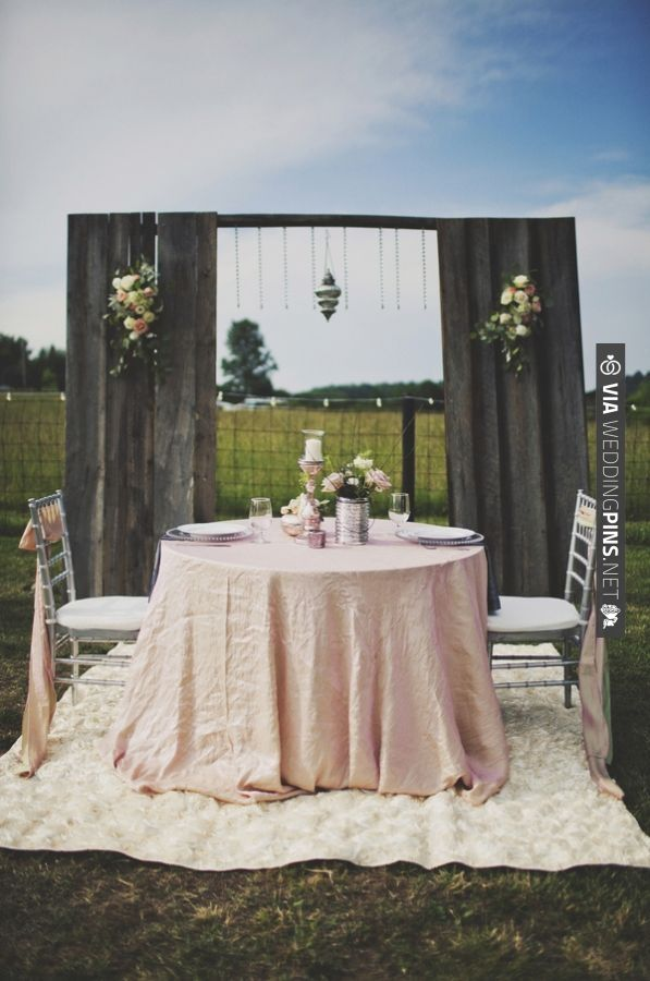High Quality Bride And Groom Table // Photo By   VIA #WEDDINGPINS.NET