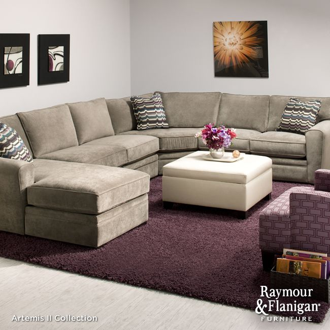 Artemis Ii 4 Pc Microfiber Sectional Sofa In 2021 Quality Living Room Furniture