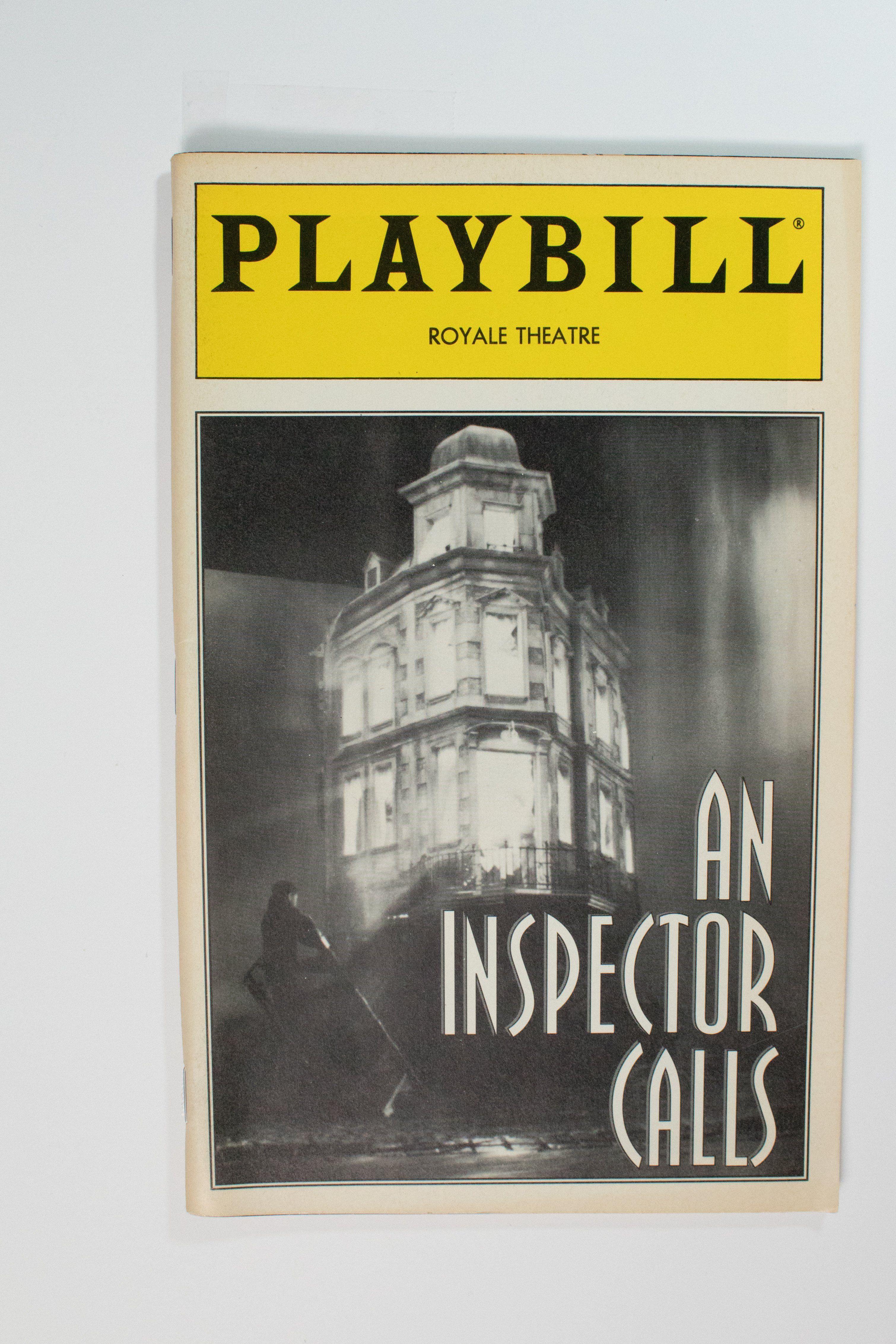 An Inspector Calls Playbill  An Inspector Calls  Pinterest  An Inspector Calls Playbill
