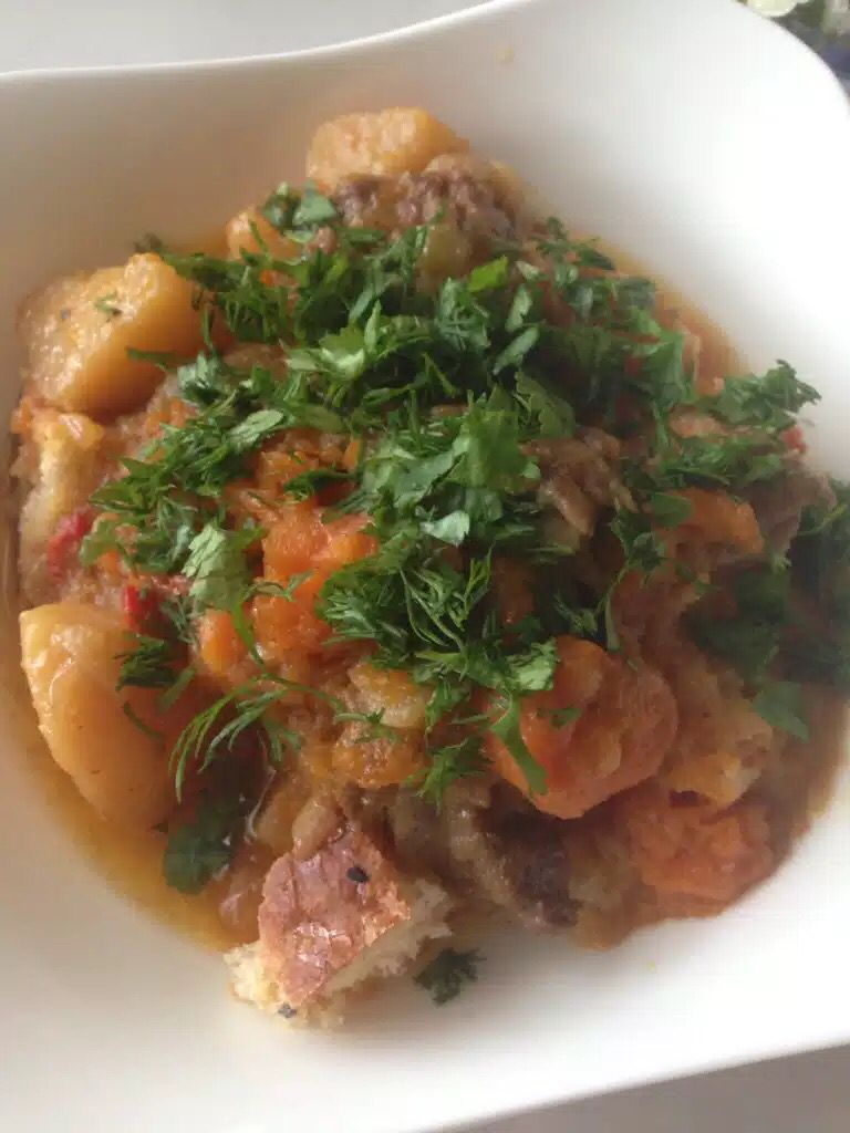 Lunch / meat / potatoes / pumpkin yummy обед / мясо с тыквой и картошкой