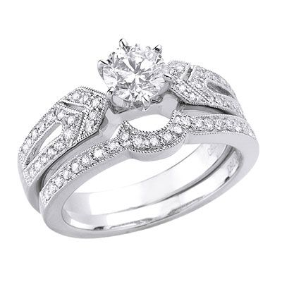 diamond wedding ring Weddingdressone Pinterest Diamond wedding