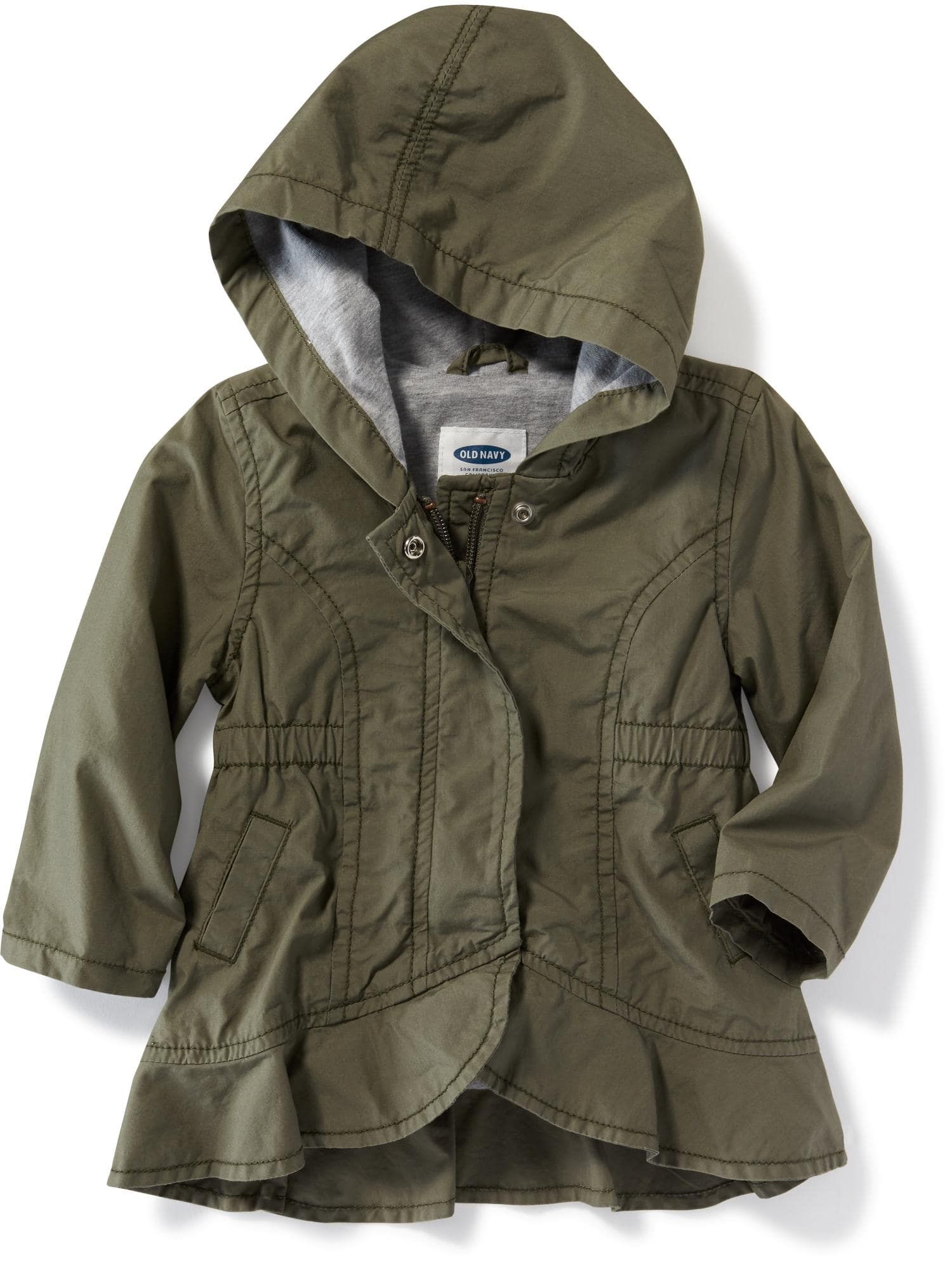 Hooded Peplum Hem Utility Jacket for Baby Old Navy