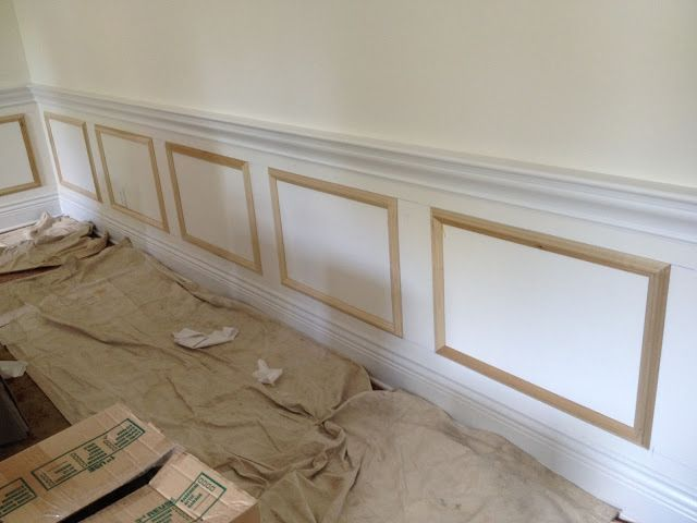 A great and cheap way to get the wainscoting look for Wainscoting designs dining room