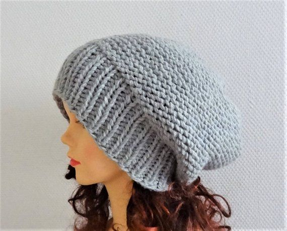 42096cbea0a Sacking Winter Hat - Autumn Accessories - Slouchy Beanie Hat Oversized Hat  - Chunky Knit - Men Slouchy sea green slouchy knit hat chunky hat
