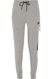 NikeTech Fleece cotton-blend track pants