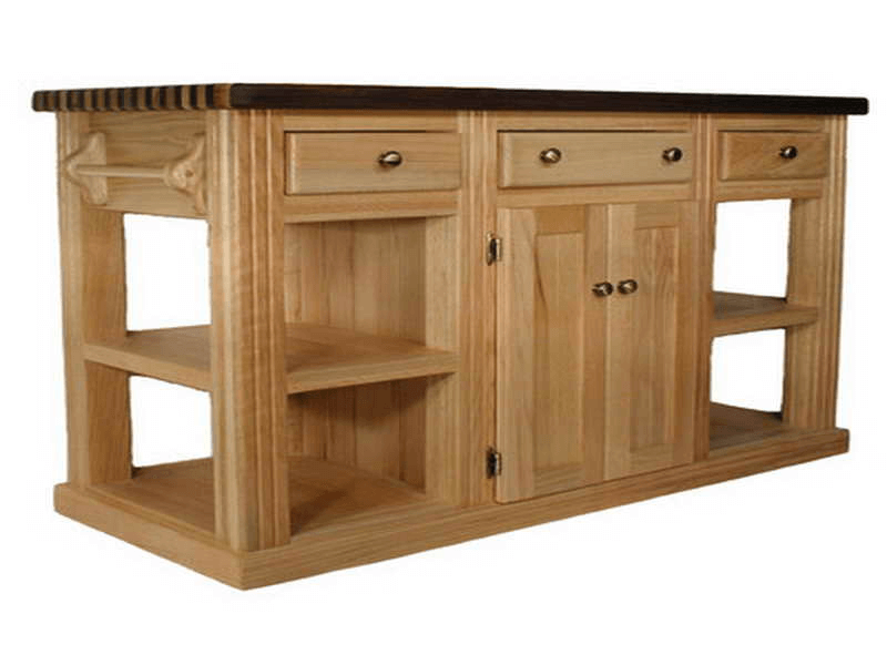 Wooden Unfinished Kitchen Island Base With Optional Top Finishing Kit Kitchenislandideas Kitchen Island Base Kitchen Plans Kitchen Island Cabinets