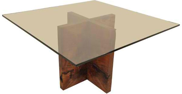 wood pedestal table base round glass table