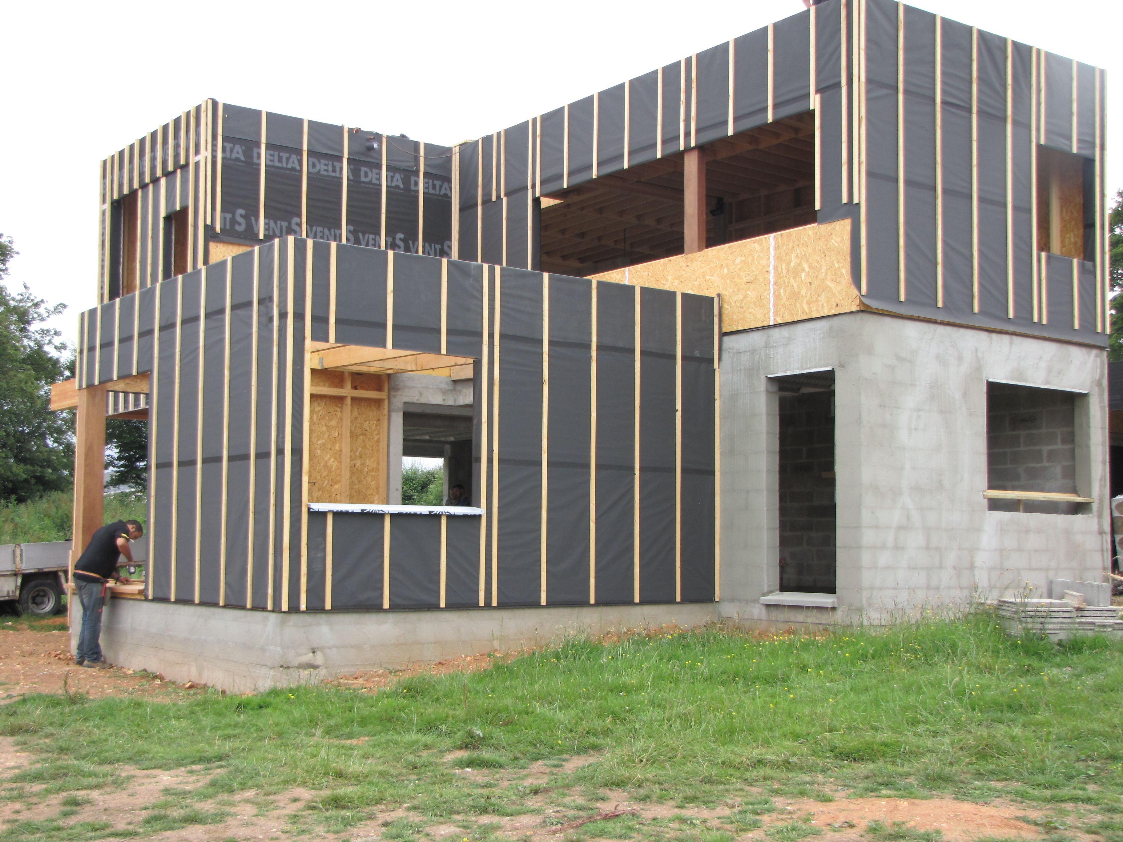Constructeur Maison Ossature Bois 76 maison ossature bois rouen www.pesqueux-charpente.fr