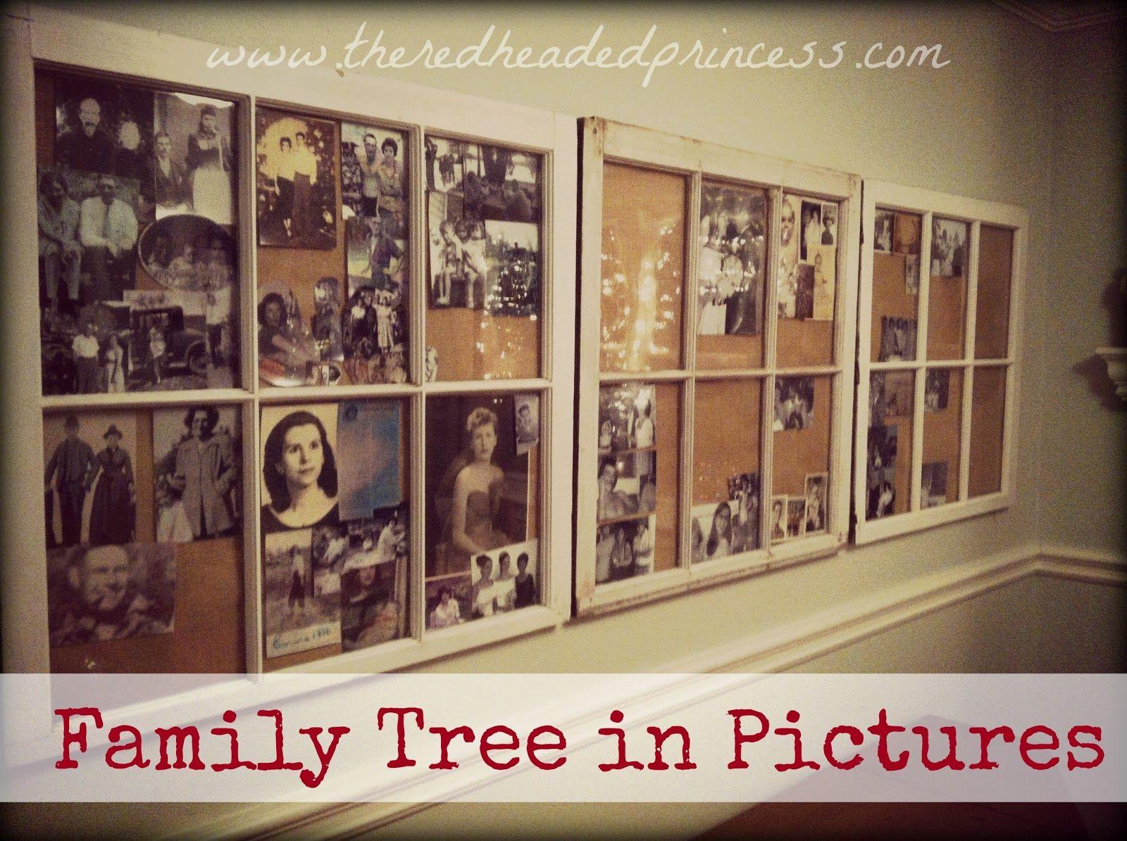 Use old farm windows to display old family photos