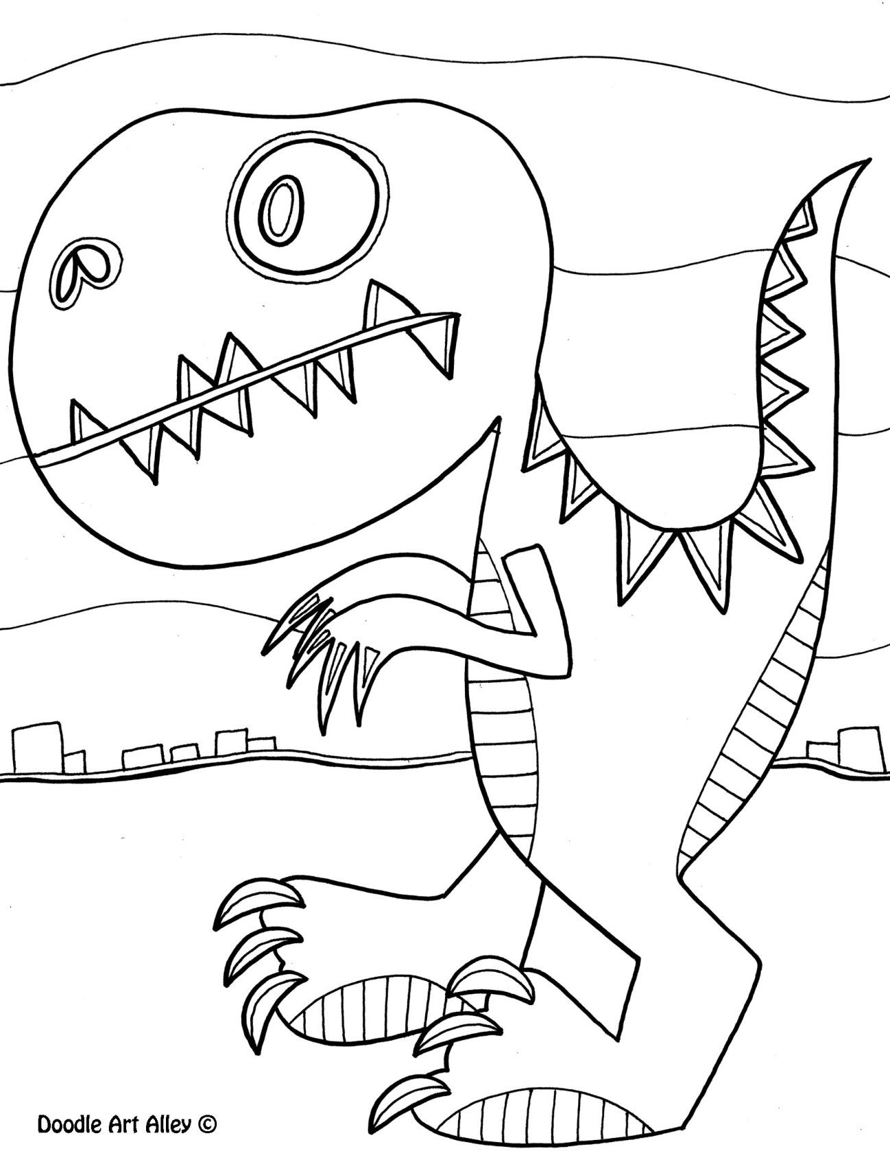 doodle art alley- all sorts of animals | dinosaurs | Pinterest