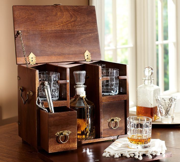 Wood Scotch Box | Pottery Barn | Home Sweet Home in 2019 ...