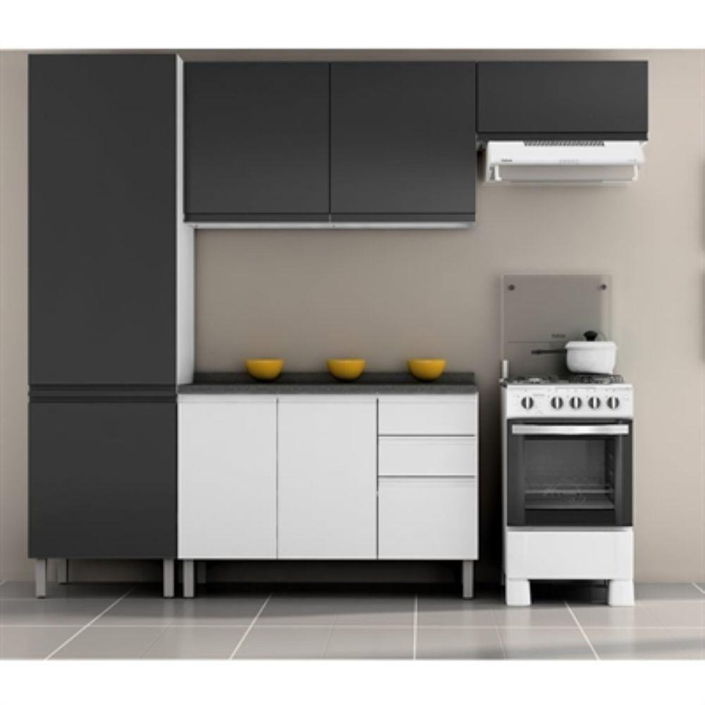 Cozinha Itatiaia Stilo Plus Completa 4 Pecas 7 Portas 3 Gavetas