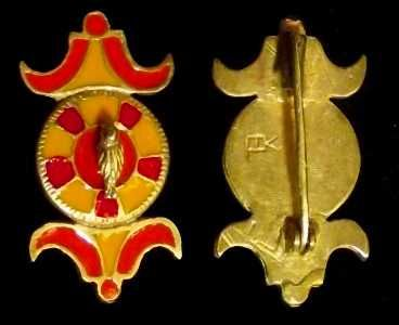 D116: replicas of roman fibulae material: Bronze and enamel datation: II-III cent. AD original common in europe, most in france, england and germany dimensions: 44x23 mm price: 29,75 euro created by Labortemporis