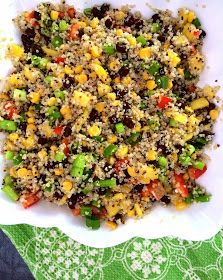 the Real Life RD: black bean mango quinoa salad with cilantro lime vinaigrette