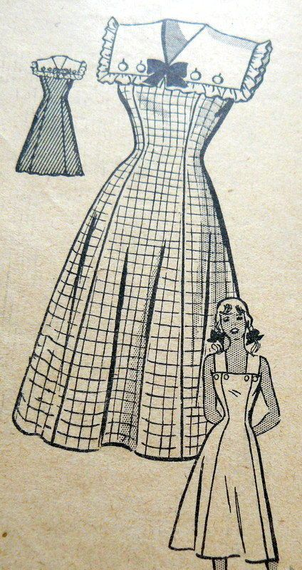LOVELY VTG 1940s DRESS Sewing Pattern 16/34 | Post WW2 Hair ...