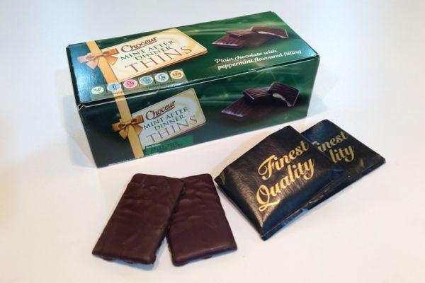 Aldi Choceur Mint Chocolate Thins Mint Chocolate