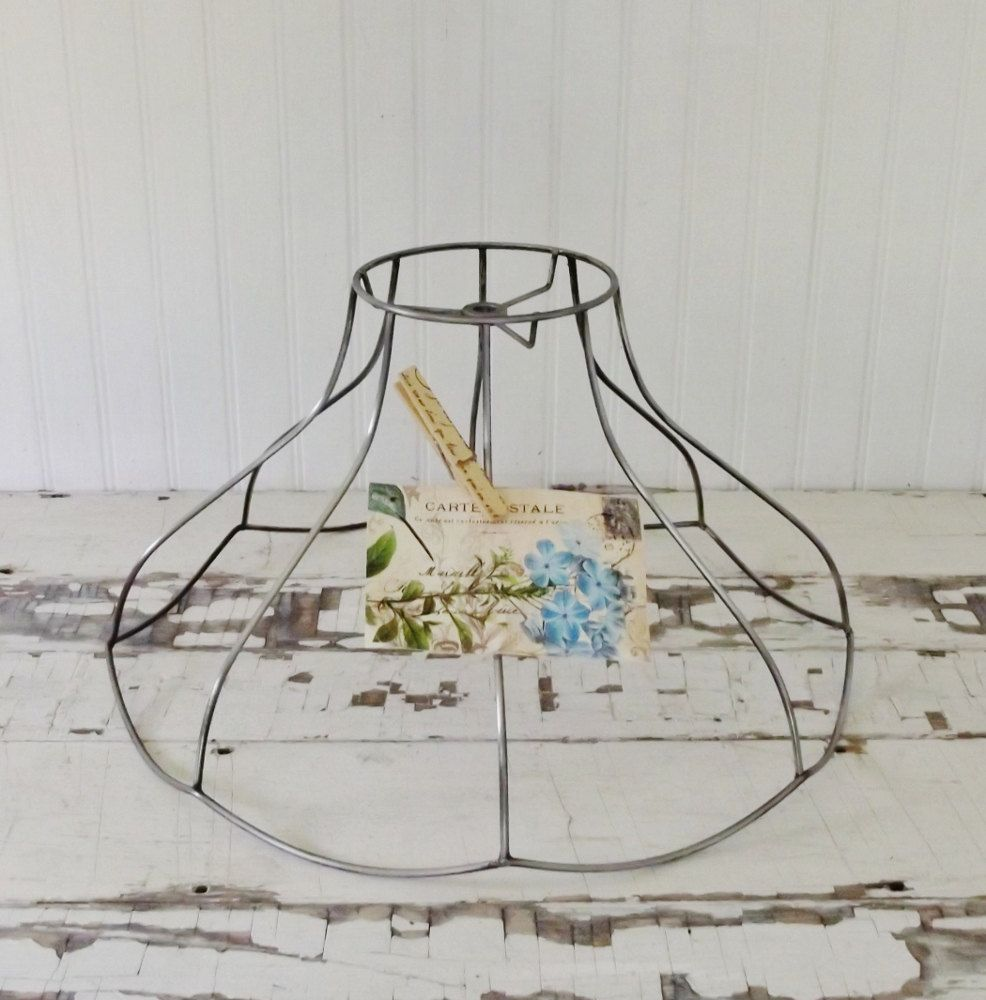 Vintage Bell Shaped Wire Lamp Shade Frame | Lamp shade frame ...