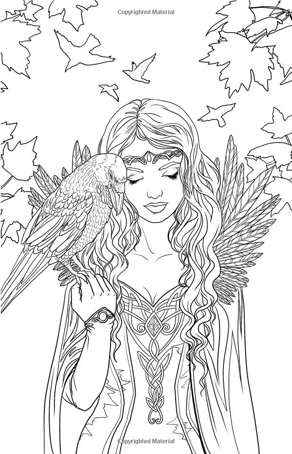 Fantasy art coloring pages ~ Gothic Fairy Coloring Pages | Fairy coloring pages ...