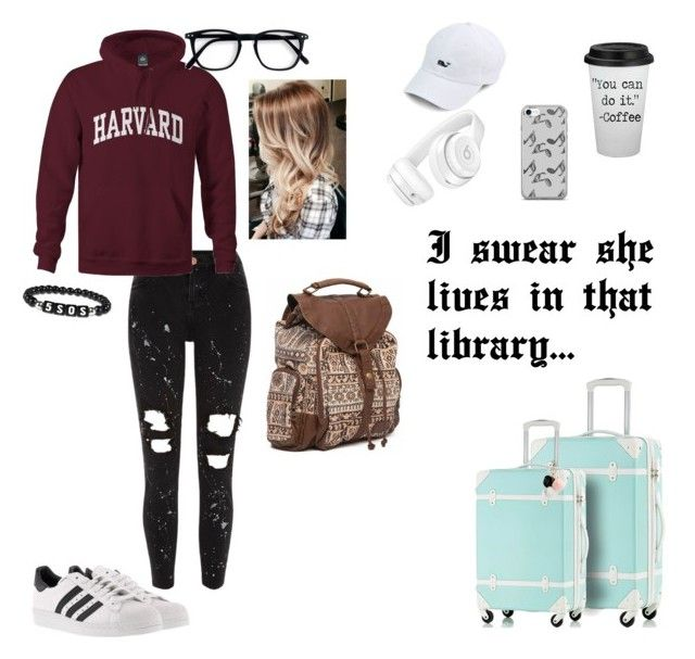 """""""She's a good girl that hasn't been caught..."""" by beauty-and-the-wardrobe ❤ liked on Polyvore featuring River Island, adidas, GUESS, Music Notes, Beats by Dr. Dre and Billabong"""
