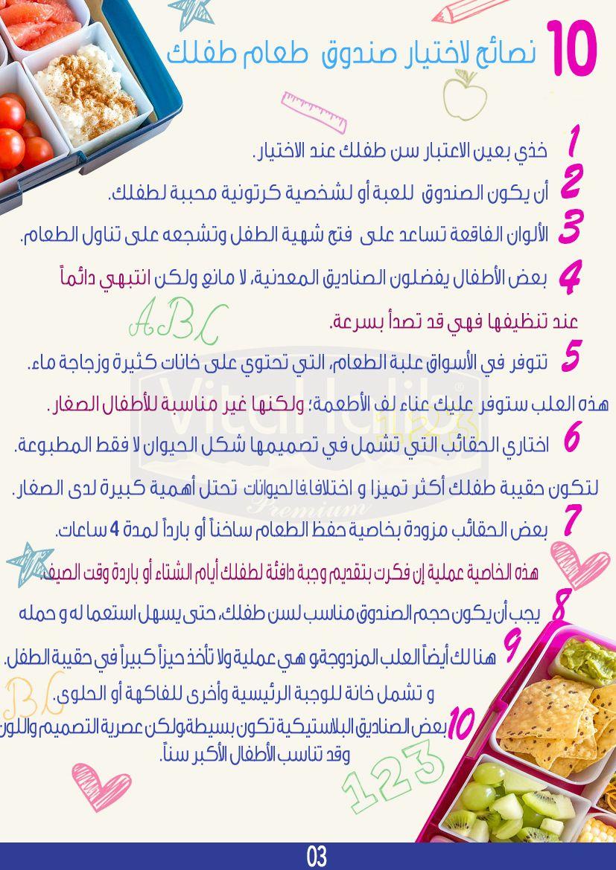 10 نصائح لاختيار صندوق طعام طفلك How To Choose My Children S Lunch Box فيتا حليب Vitahalib Laitenpoudre Powderedmilk Milk Maroc M Food 10 Things Bread