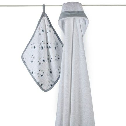 Twinkle Hooded Towel Set by Aden and Anais