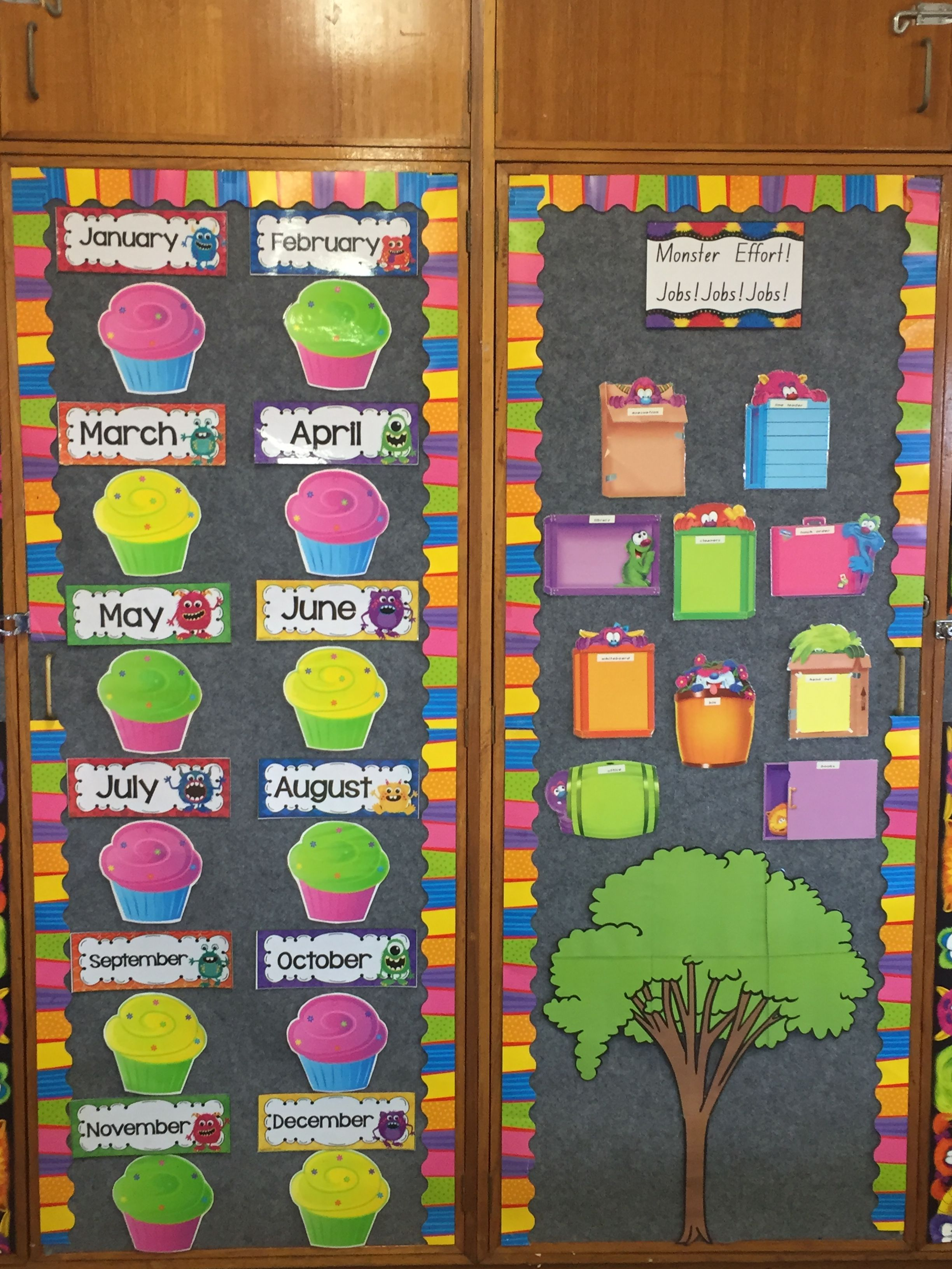 Birthday chart and job chart-Kindergarten | 1 disney ...