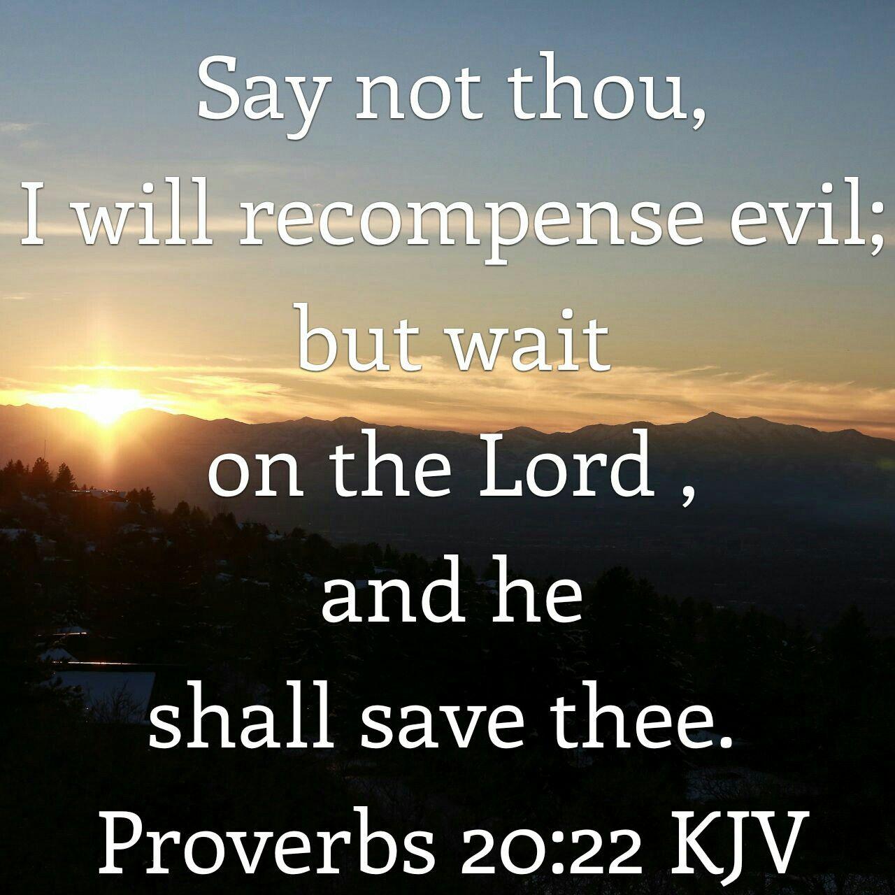 Proverbs 20 22 Kjv Kjv Proverbs 20 Love Scriptures