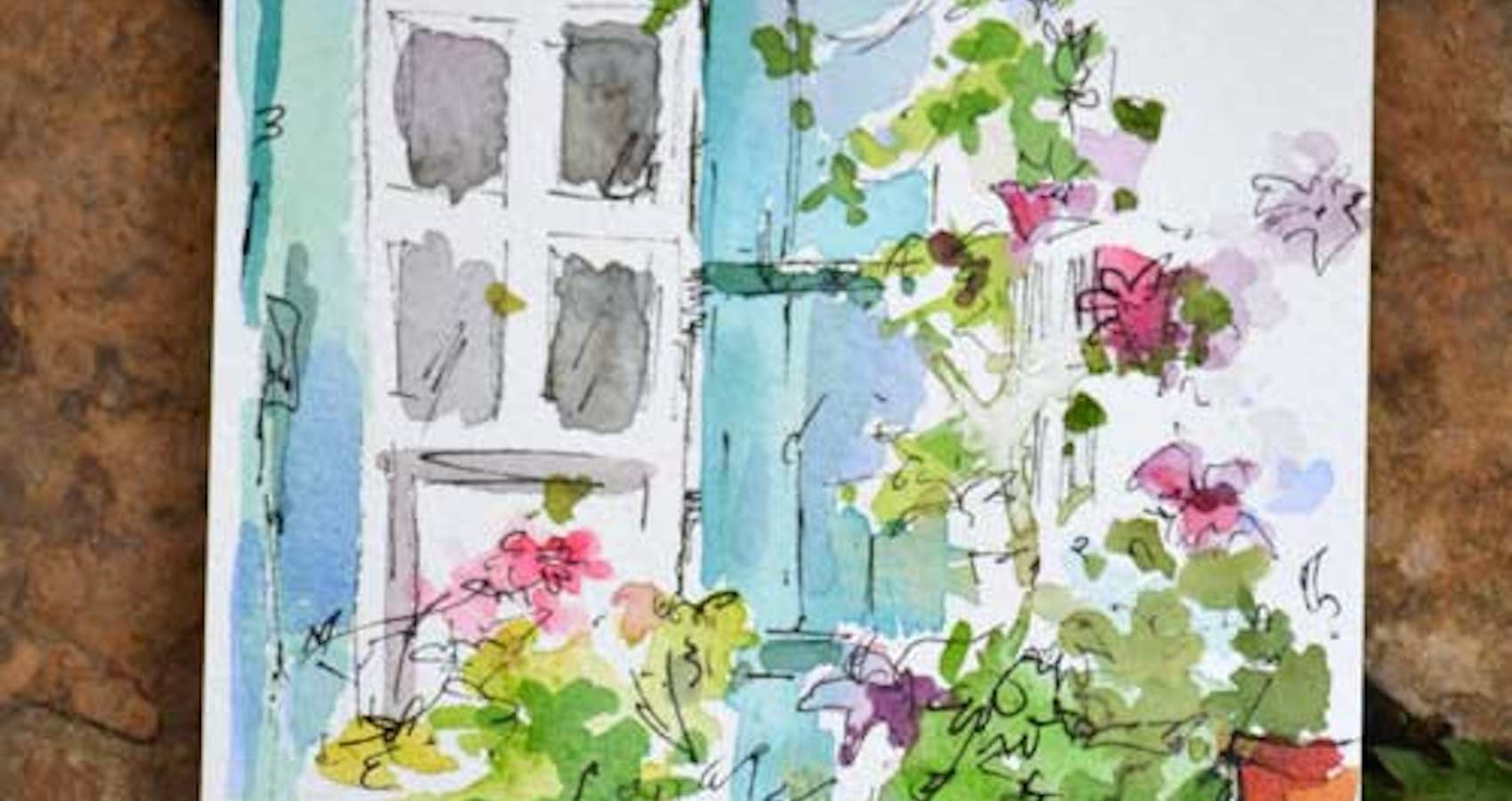 French Window Watercolor Journal Dreama Tolle Perry Art Art