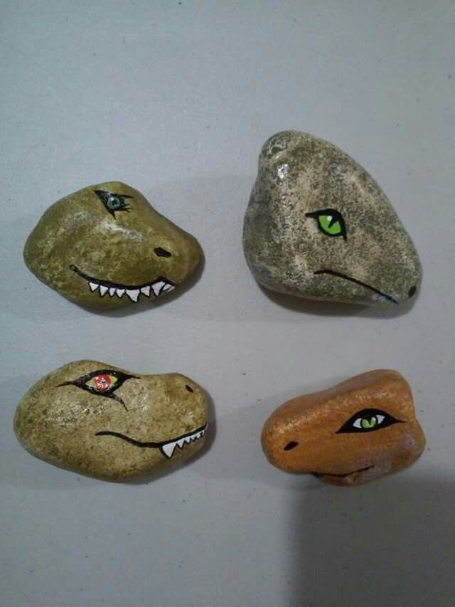 Dinosaurs Rock painting | Dinosaur party | Dinosaur crafts