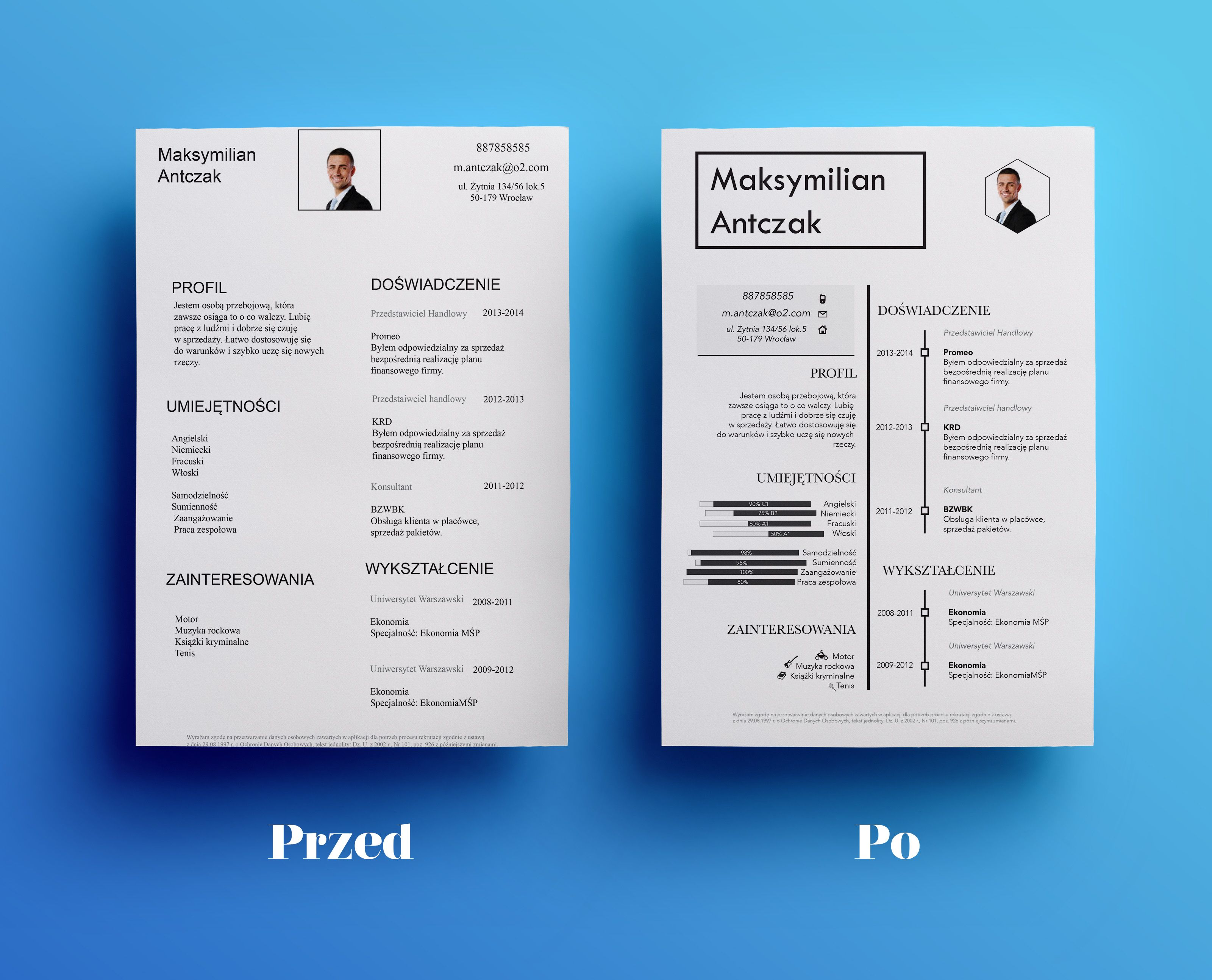 Resume Before And After Small Change But Looks Much Better 3